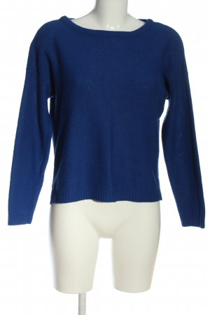 Zara Knit Strickpullover blau Zopfmuster Casual-Look