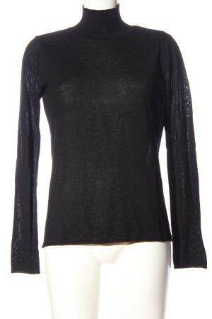 Zara Knit Strickpullover schwarz Casual-Look