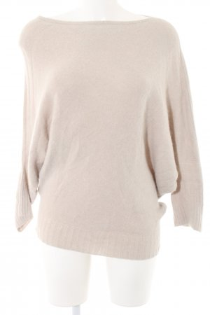 Zara Knit Strickpullover creme Business-Look