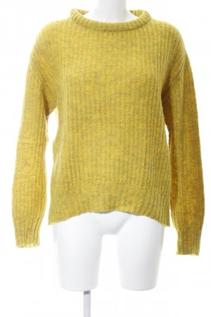 Zara Knit Strickpullover blassgelb Casual-Look