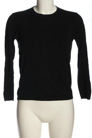 Zara Knit Sweter z dzianiny czarny W stylu casual