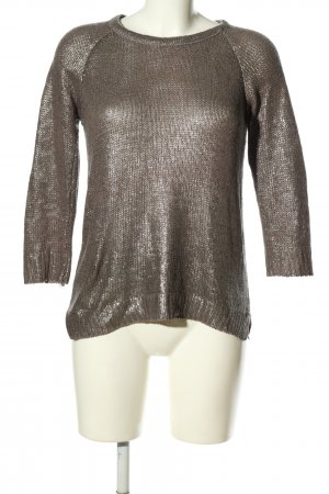 Zara Knit Strickpullover braun Casual-Look