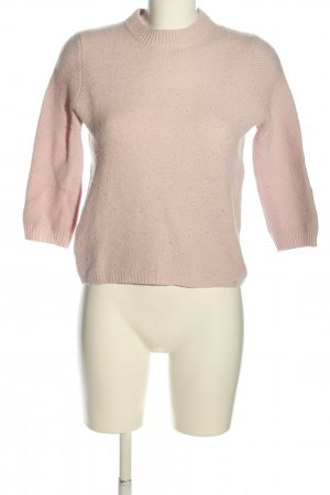 Zara Knit Strickpullover pink Casual-Look