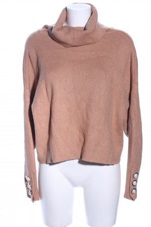 Zara Knit Strickpullover nude Casual-Look