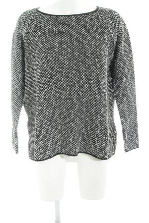 Zara Knit Strickpullover schwarz-weiß Casual-Look