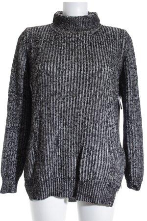Zara Knit Strickpullover schwarz-wollweiß Casual-Look