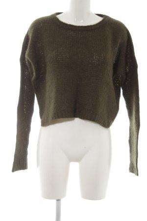Zara Knit Strickpullover waldgrün