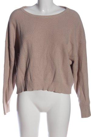 Zara Knit Strickpullover wollweiß Casual-Look