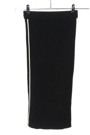 Zara Knit Strickrock schwarz-weiß Streifenmuster Casual-Look