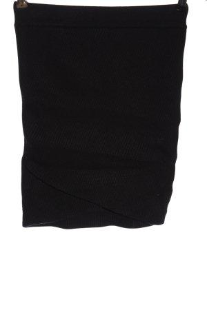 Zara Knit Gebreide rok zwart elegant