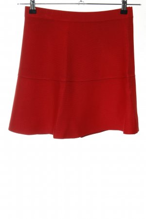 Zara Knit Knitted Skirt red casual look