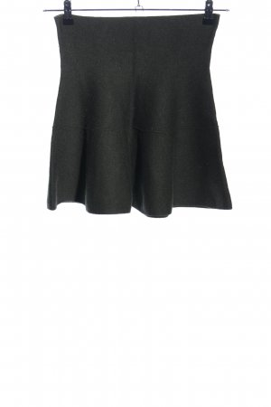Zara Knit Knitted Skirt black elegant