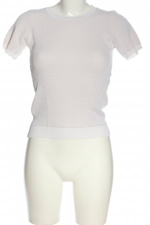 Zara Knit Koszulka z dzianiny biały W stylu casual