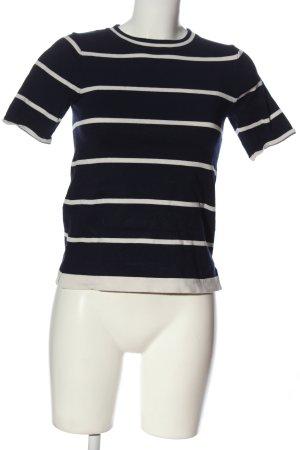 Zara Knit Camisa tejida azul-blanco estampado repetido sobre toda la superficie