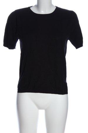 Zara Knit Strickshirt schwarz Casual-Look