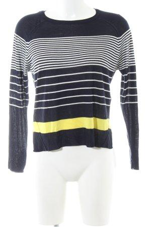 Zara Knit Strickshirt Streifenmuster Casual-Look