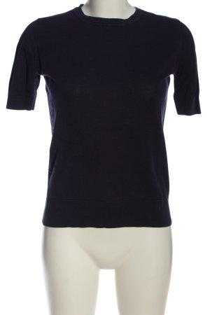 Zara Knit Strickshirt lila Casual-Look