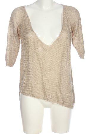 Zara Knit Strickshirt creme Casual-Look
