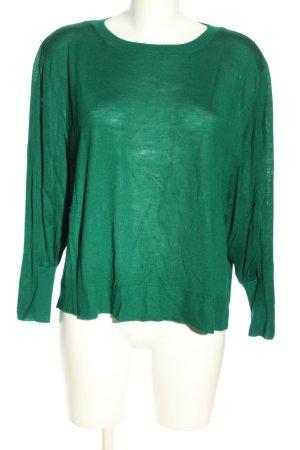 Zara Knit Longsleeve grün Casual-Look