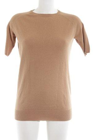 Zara Knit Strickshirt nude Casual-Look