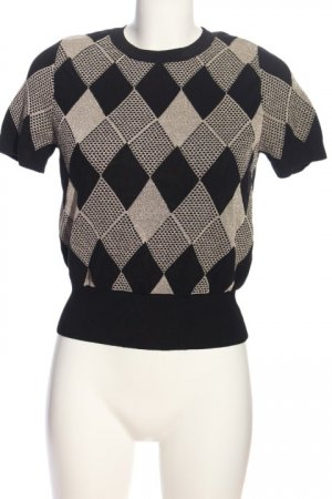 Zara Knit Strickshirt Allover-Druck Casual-Look