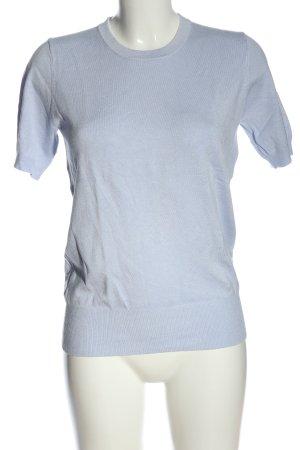 Zara Knit Strickshirt blau Casual-Look