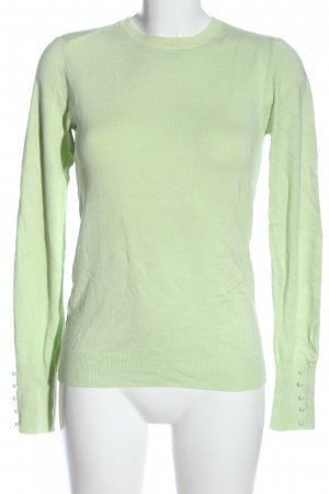 Zara Knit Strickshirt grün Zopfmuster Casual-Look