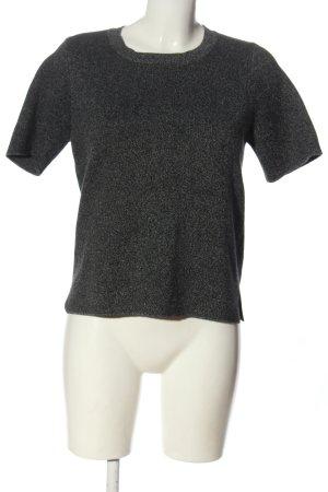 Zara Knit Strickshirt hellgrau meliert Casual-Look