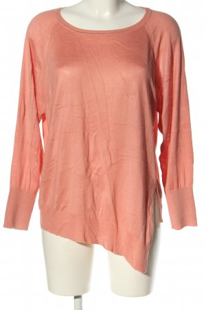 Zara Knit Strickshirt pink Casual-Look