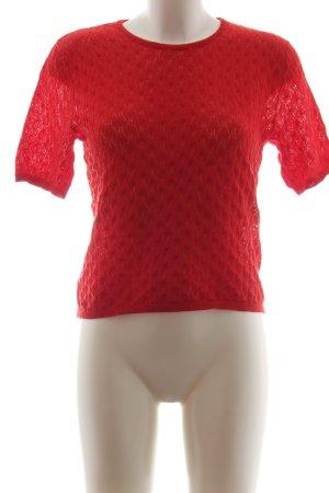 Zara Knit Strickshirt rot Business-Look
