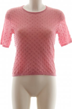 Zara Knit Strickshirt pink Zopfmuster Casual-Look