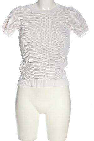 Zara Knit Strickshirt weiß Casual-Look