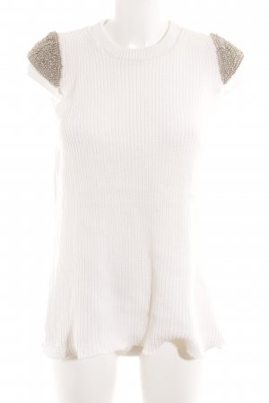 Zara Knit Strickshirt wollweiß Elegant