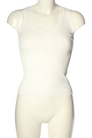 Zara Knit Gebreide top wit gestreept patroon casual uitstraling