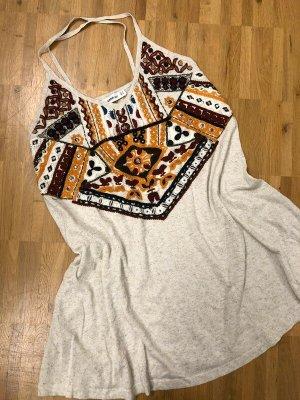 Zara Knit Stricktop 36 S neu bestickt Stickerei Aztek Muster