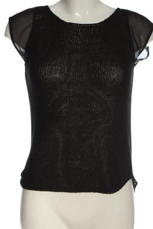 Zara Knit Top z dzianiny czarny W stylu casual