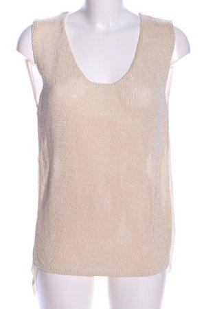 Zara Knit Stricktop creme Casual-Look