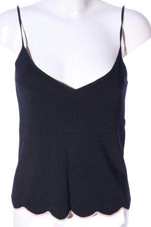 Zara Knit Haut tricotés noir style décontracté