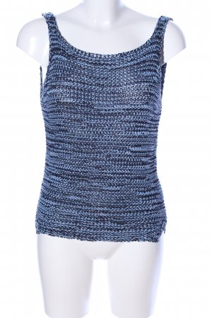 Zara Knit Stricktop blau Zopfmuster Casual-Look