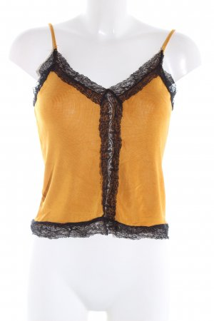 Zara Knit Stricktop hellorange Casual-Look