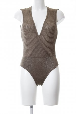 Zara Knit Knitted Top brown flecked casual look
