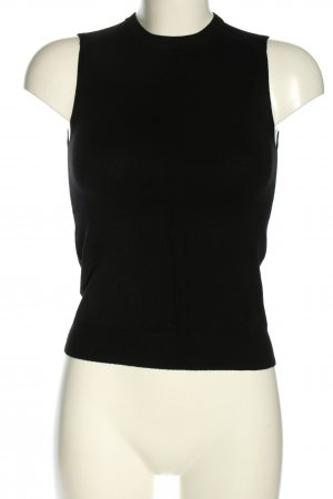 Zara Knit Gebreide top zwart casual uitstraling