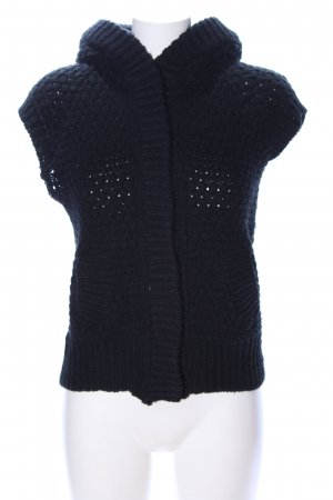 Zara Knit Chaleco de punto negro look casual