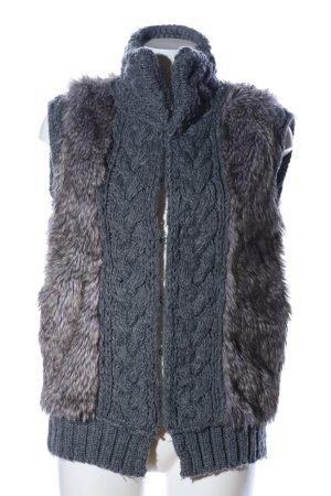 Zara Knit Gilet tricoté gris clair moucheté style décontracté
