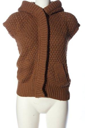 Zara Knit Cardigan brown casual look