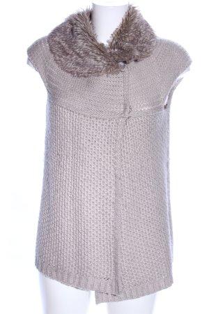 Zara Knit Strickweste hellgrau Casual-Look