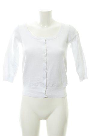 Zara Knit Gilet tricoté blanc style décontracté