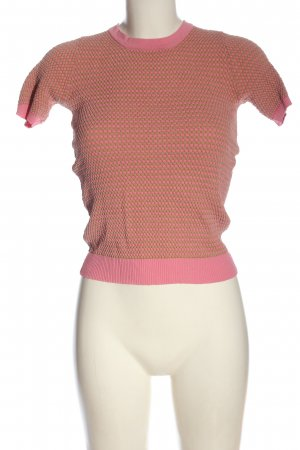 Zara Knit T-Shirt pink-creme Allover-Druck Casual-Look