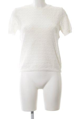 Zara Knit T-Shirt weiß Casual-Look