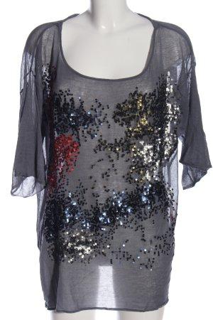 Zara Knit T-Shirt mehrfarbig Casual-Look